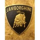 Lamborghini Wall Plaque