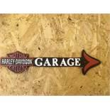 Harley Davidson Motorcycles Garage Arrow Wall Plaque