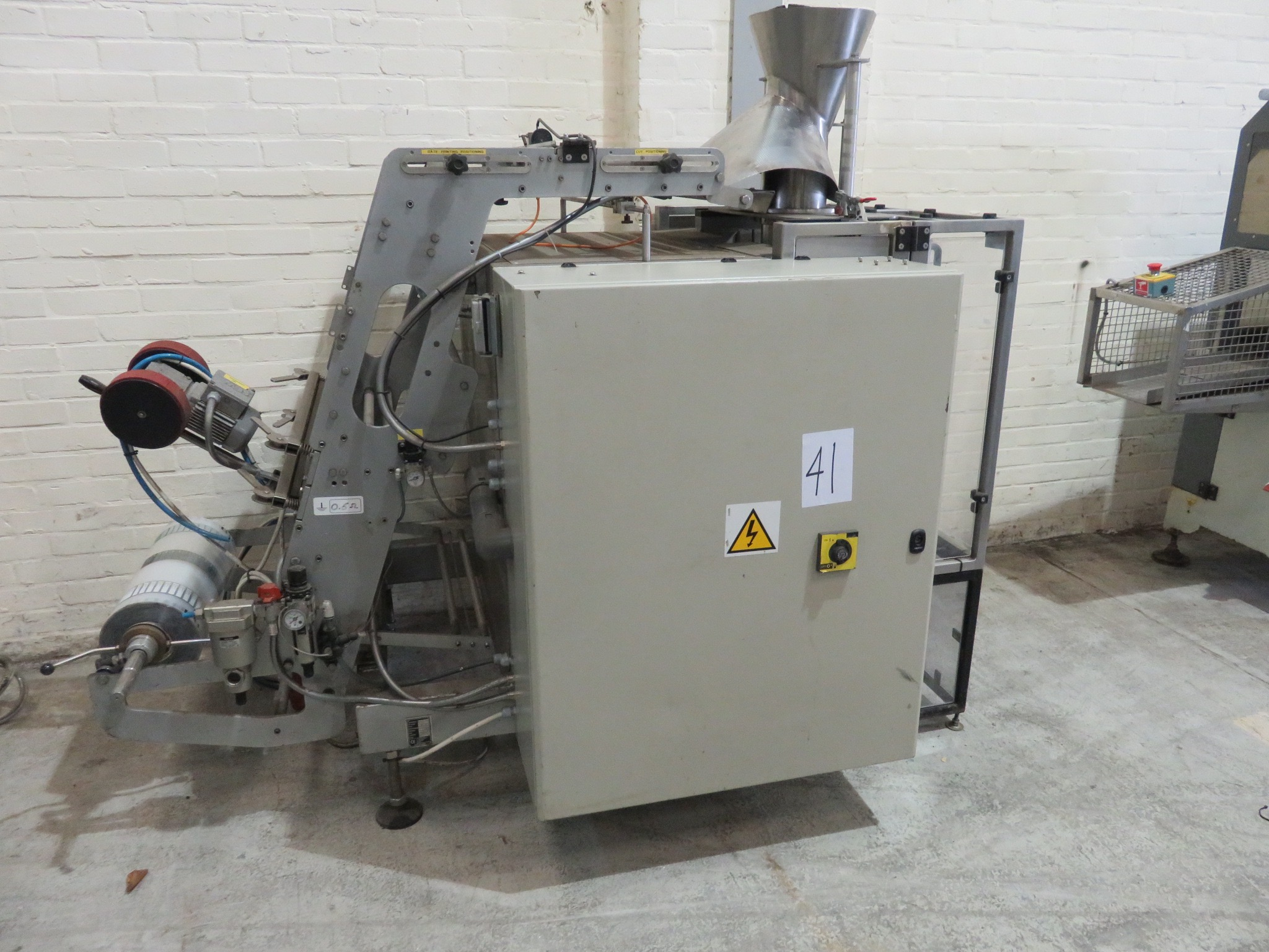 Lot 41 - Radpack vertical form, fill & seal machine. (Act Prepack) PEC. Touch screen. Totally S/sLIFT OUT £30