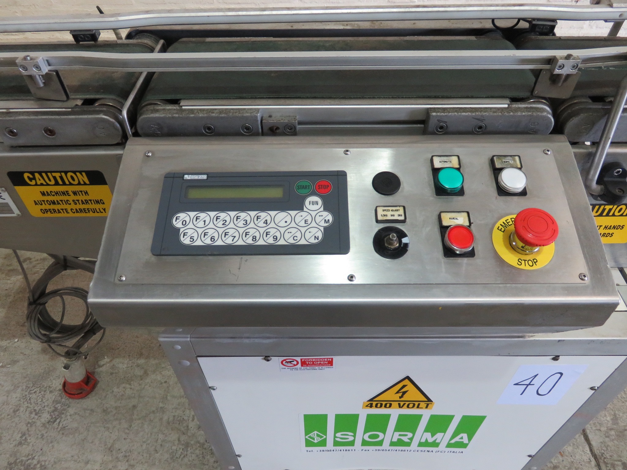 Lot 40 - Sorma Check Weigher. Model CWP128SV. overall length 1900 mm LIFT OUT £10