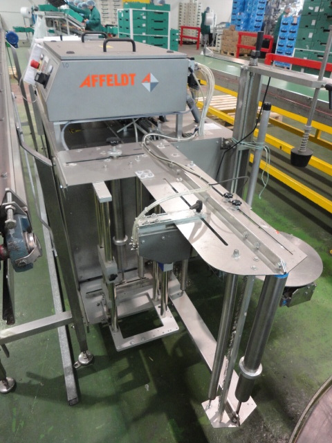 Lot 24 - Affeldt model AVN 691 apple bagging machine with infeed conveyor approx. 4150mm long x 170mm wide