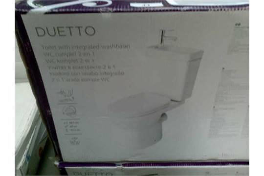 COOKE AND LEWIS DUETTO TOILET WITH INTEGRATED WASHBASIN RRP £159
