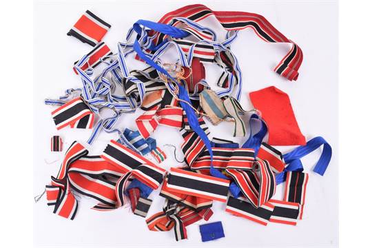 Quantity of WW1 & WW2 German Medal Ribbons, including Iron