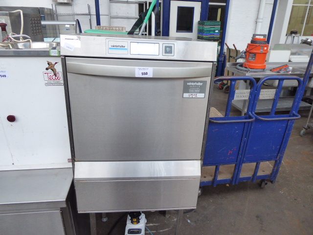 Lot 550 - 60cm Winterhalter drop front dishwasher on stand