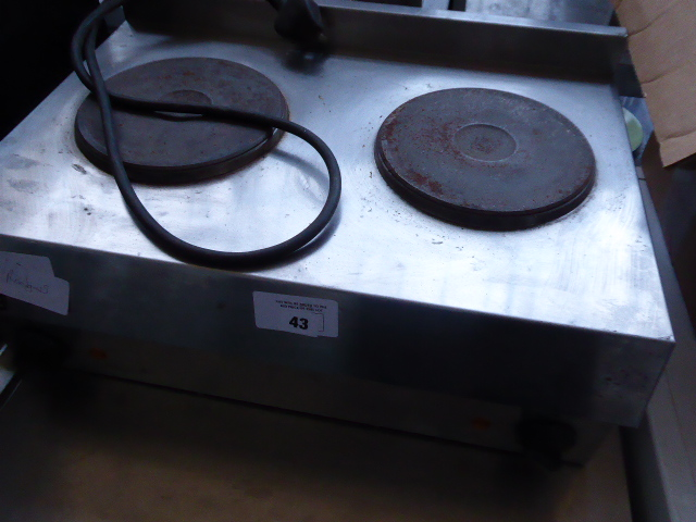 Lot 43 - 56cm electric Lincat 2-ring boiler (120)