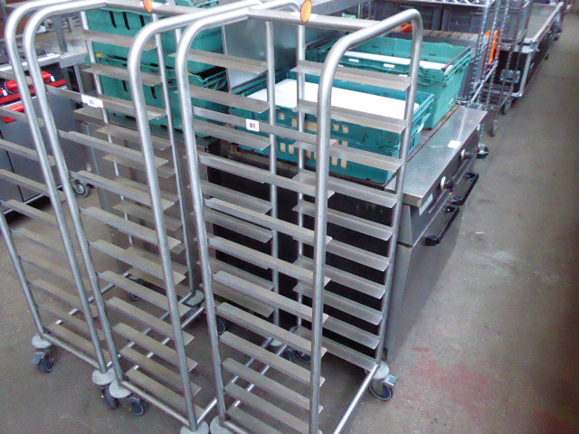 Lot 81 - Ten tier mobile tray clearing trolley