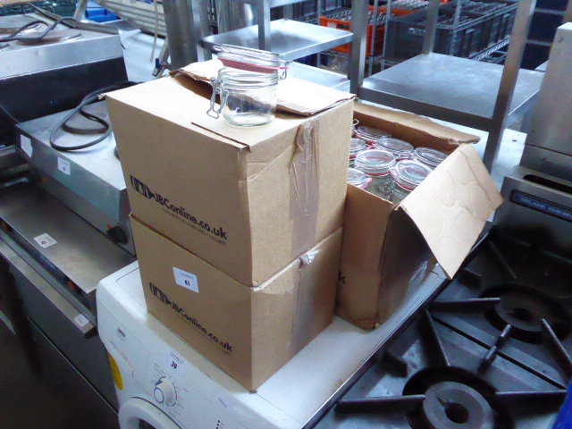 Lot 41 - 3 boxes of glass preserve jars