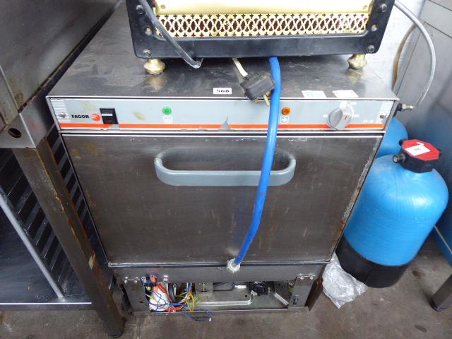 Lot 568 - 60cm Fagor under counter dishwasher