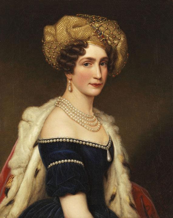 Lot 1 - Joseph Karl Stieler 1781 Mainz - 1858 München Auguste Amalie Prinzessin von Bayern, Herzogin von