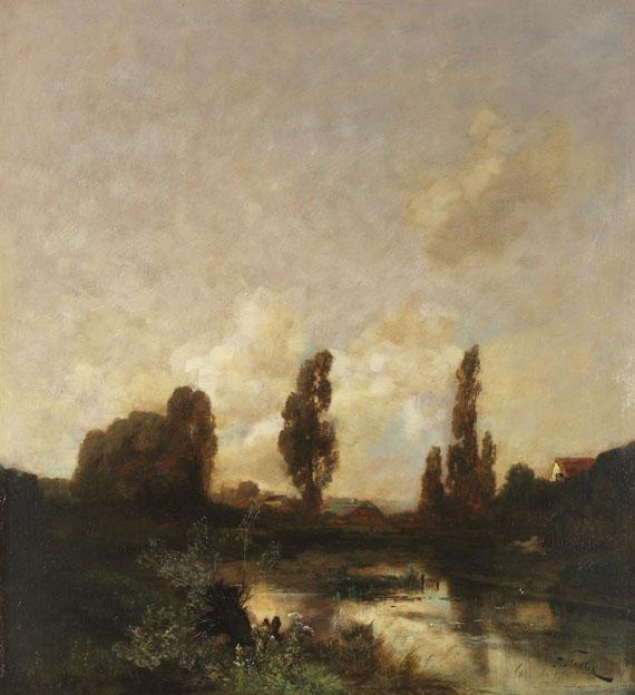 Lot 21 - Toni von Stadler 1850 Göllersdorf - 1917 München Mooslandschaft mit Gehöften (Voralpenland). Um