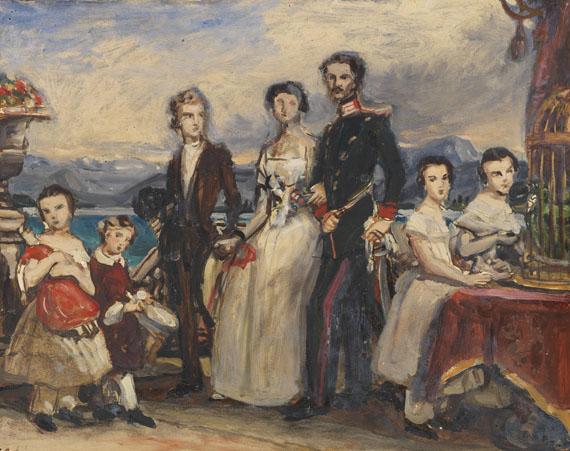 """Lot 2 - Joseph Karl Stieler 1781 Mainz - 1858 München Studie zu dem Gemälde """"Die Geschwister der Kaiserin"""