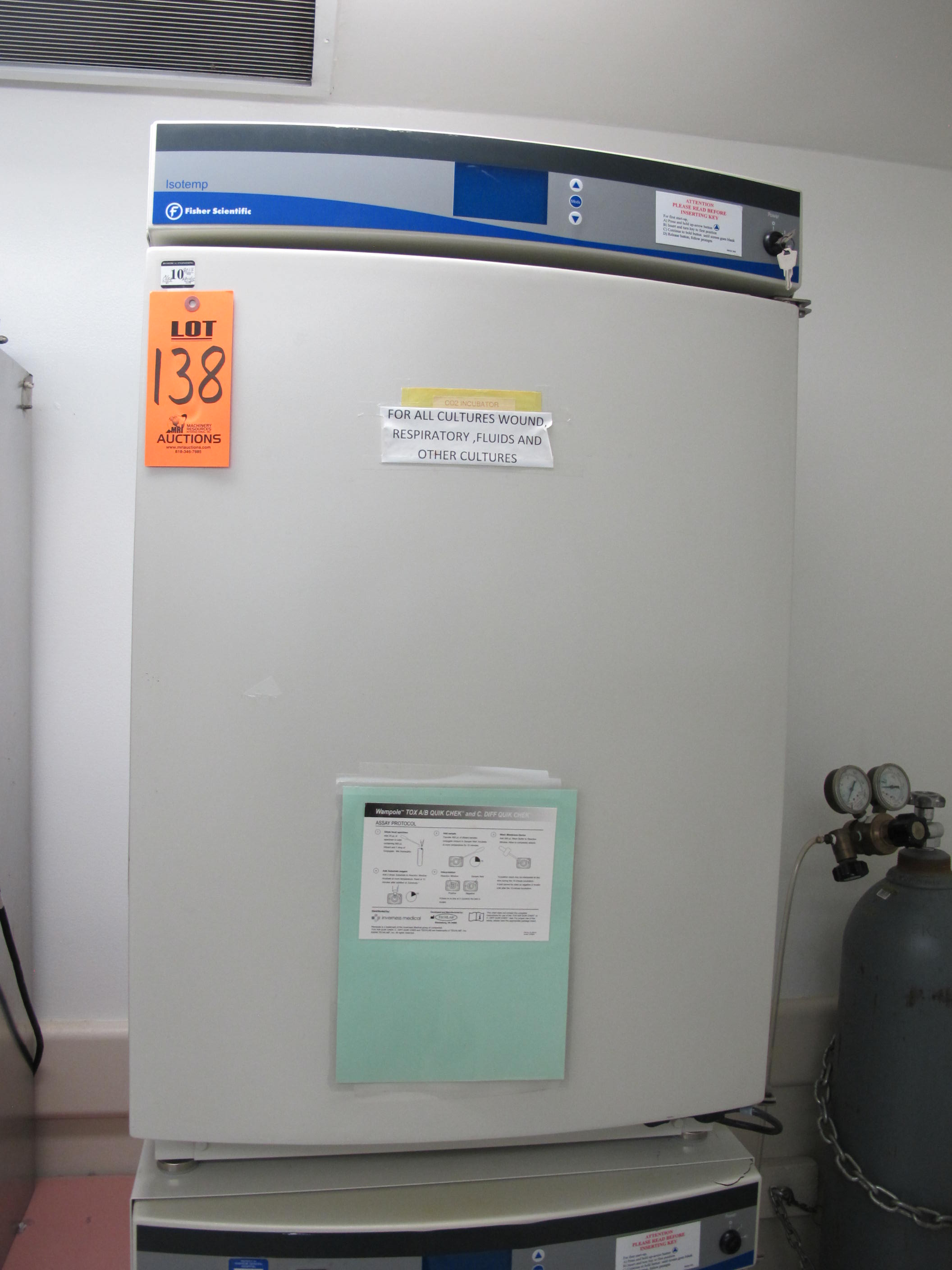 Lot 138 - FISHER SCIENTIFIC ISOTEMP WATER JACKETED CO2 INCUBATOR WITH  HUMIDITY, MODEL FFCO 300