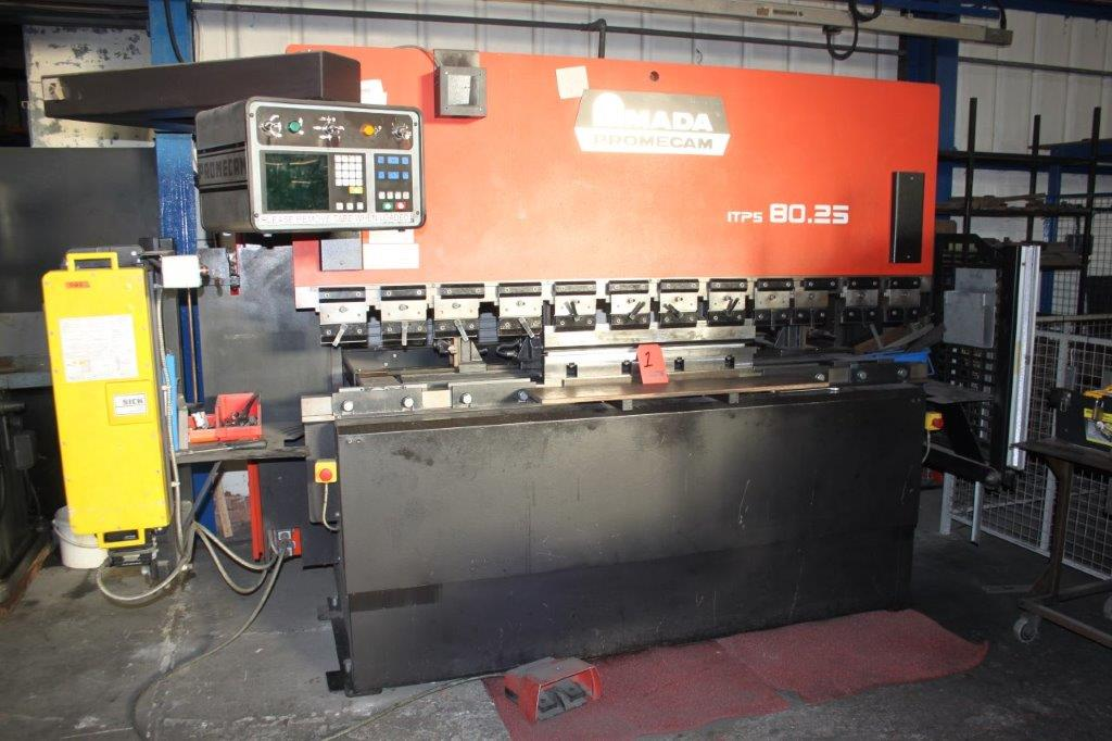 Lot 1 - AMADA PROMECAM ITPS 80.25 CNC BRAKE PRESS 80 TON X 2500MM WIDE CAPACITY C/W PROMECAM CNC EMA DRO