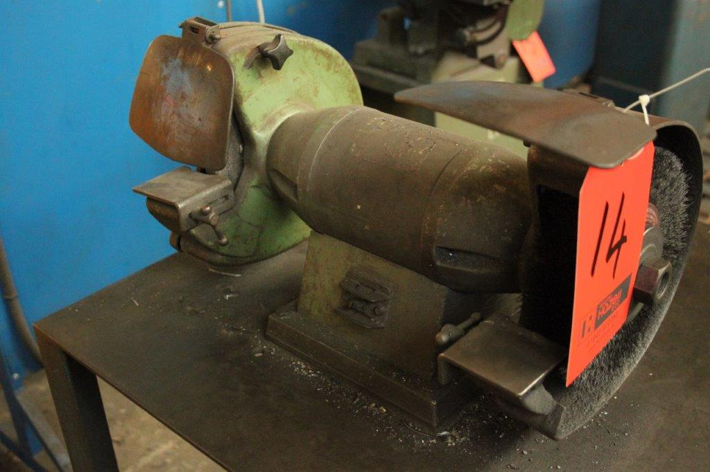 Lot 14 - DOUBLE GRINDER/BRUSH C/W STAND 240V