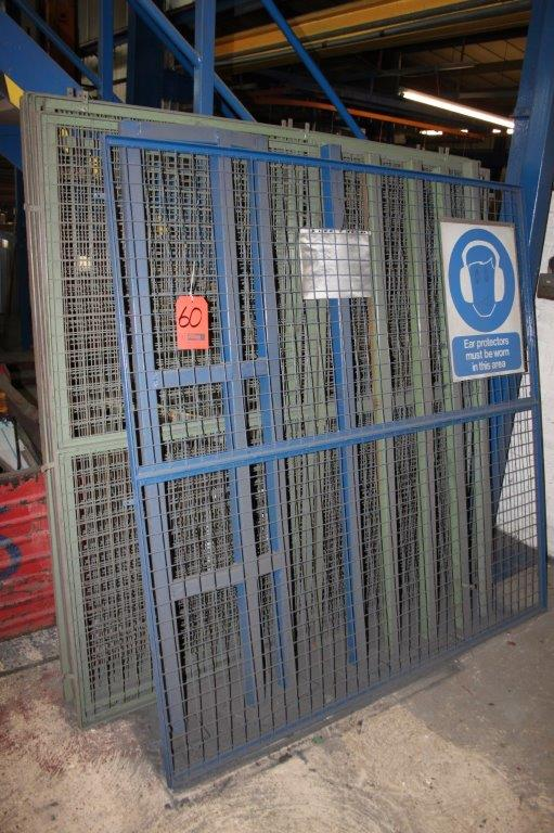 Lot 60 - 7 X 1800 X 1800MM SECTION OF MESH FRAMES