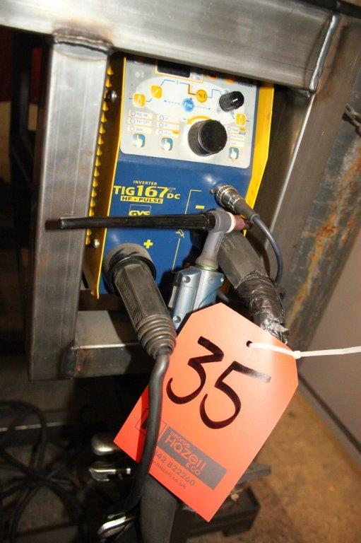 Lot 35 - GYS 167 TDC HF PULSE INVERTER TIG WELDER 240V