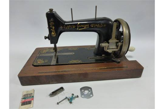 A Cased 404040s Gamages Sewing Machine Mesmerizing Gamages Sewing Machine