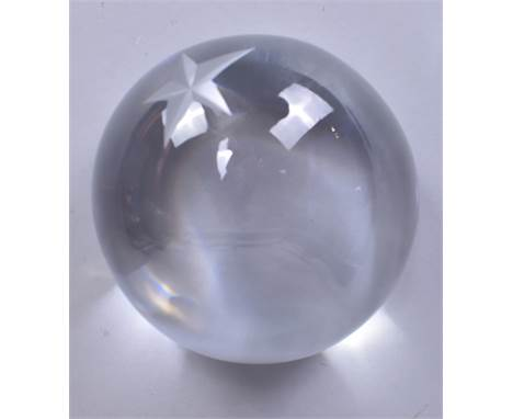 THIERRY MUGLER; a Baccarat crystal limited edition paperweight, no. 47/250, in original lined box with paperwork.