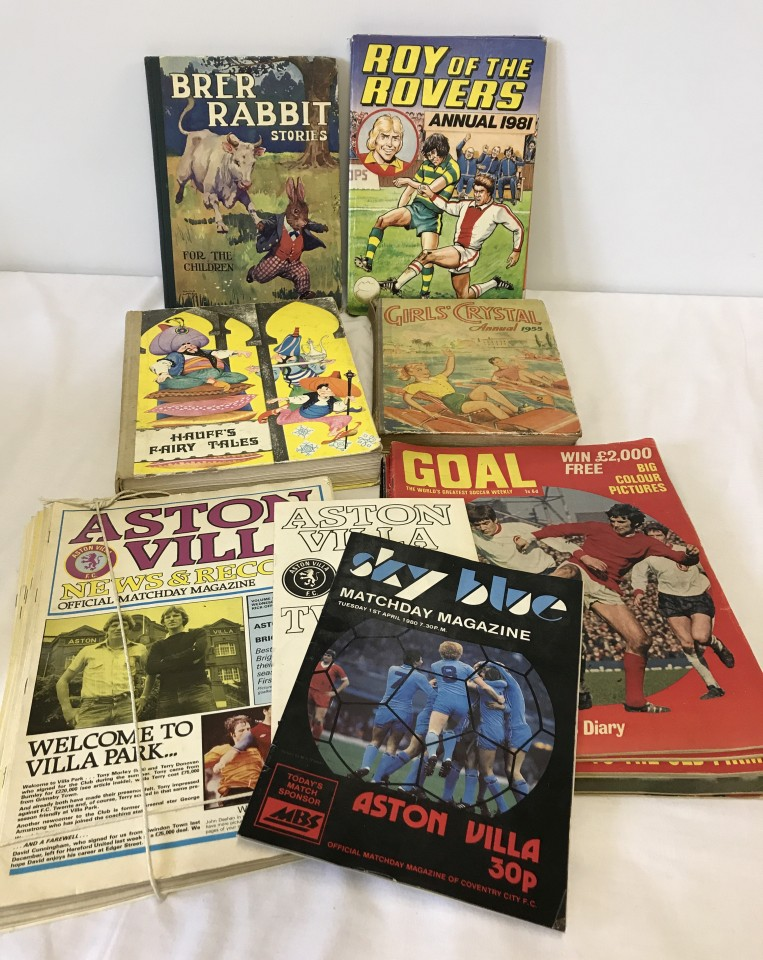 Lot 14 - A small collection of vintage children's books including Brer Rabbit & Roy of the Rovers.