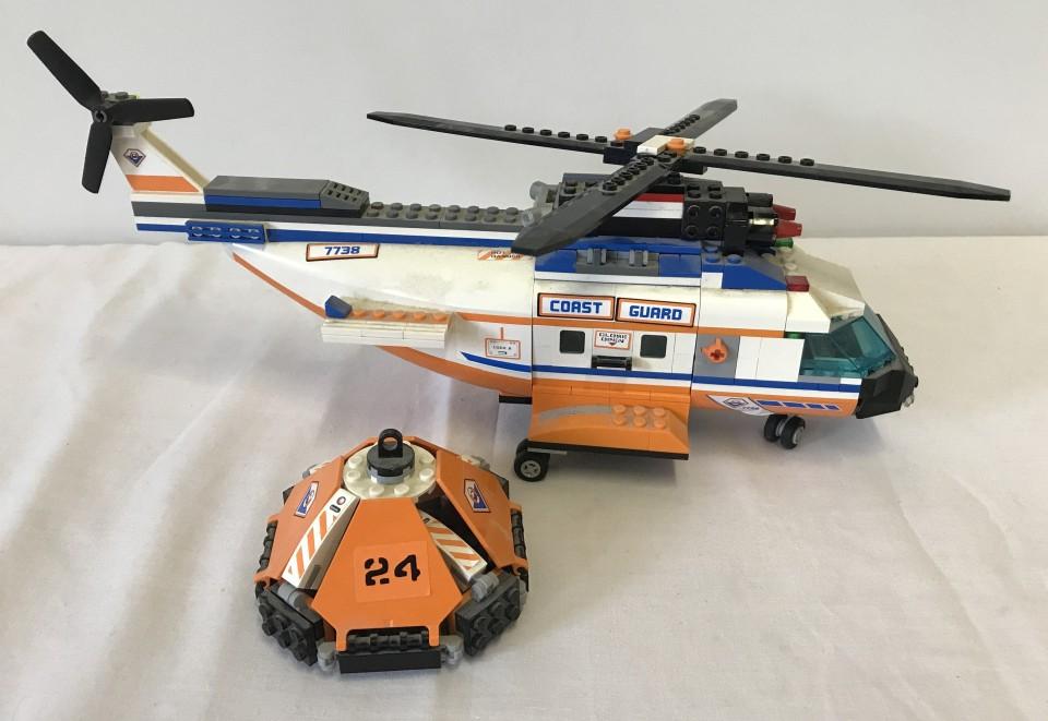 Lot 32 - Lego City Coast Guard Helicopter & Life raft 7738.