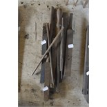 """Various lathe tools, length of longest approx. 18 1/2""""."""