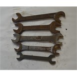 """Five BSW - BSF spanners, length of longest approx. 12"""" (5)."""