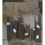 """Various cutting tools, length of longest approx. 12 1/2""""."""