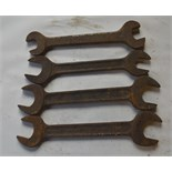 """Four BSW - BSF spanners, length of longest approx. 14 1/2"""" (4)."""