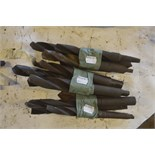 """Various drill bits, length of longest approx. 11""""."""