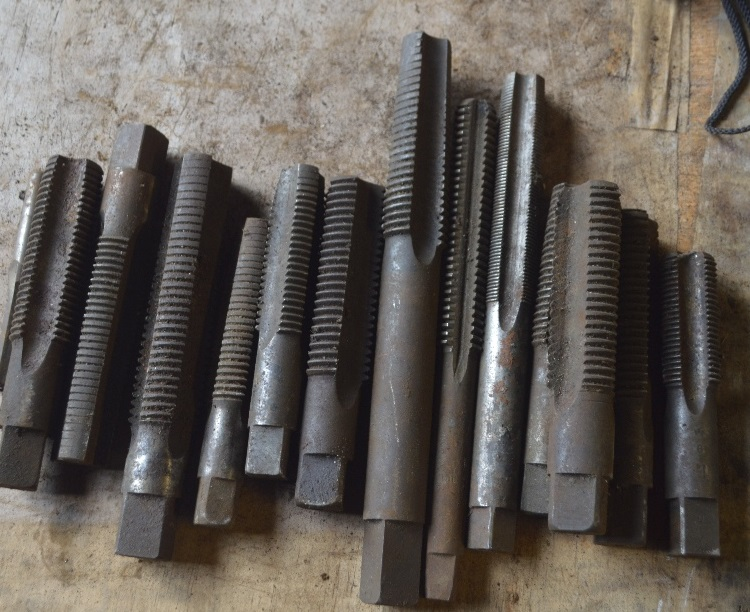 """Lot 27 - A collection of reamers, length of longest approx. 7 1/2""""."""