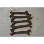 """Five BSW - BSF spanners, length of longest approx. 10 1/2"""" (5)."""