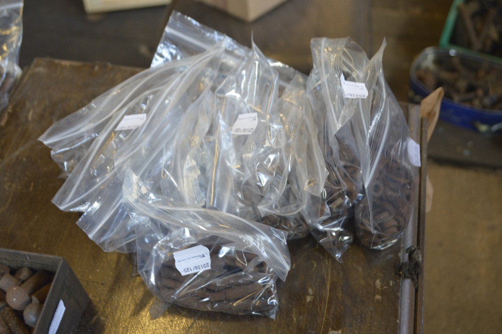 Lot 125 - A quantity of miscellaneous nuts, bolts, rivets etc.