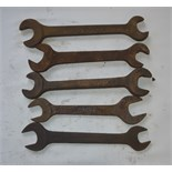 """Five BSW - BSF spanners, length of longest approx 11 1/2"""" (5)."""