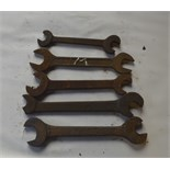 """Five BSW - BSF spanners, length of longest approx. 12 1/2"""" (5)."""