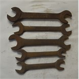 """Five BSW - BSF spanners, length of longest approx. 11"""" (5)."""