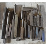 """Various lathe tools, length of longest approx. 13 1/2""""."""