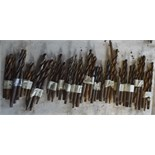 """Various drill bits, length of longest approx. 7 1/2""""."""