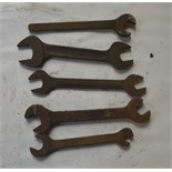 """Five BSW - BSF spanners, length of longest approx. 11 1/2"""" (5)."""