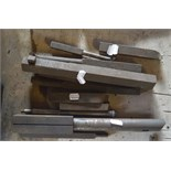 """Various large cutting tools, length of longest approx. 16""""."""
