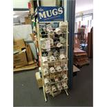 GIFT MUGS WITH DISPLAY RACK (Note: Your bid is multiplied by the quantity)