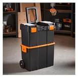 (LT18) Roller Tool Box Durable rubber wheels allow you to store and easily transport tools Tw...