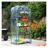 (LT11) 4 Tier Mini Greenhouse Keep conditions controlled for your plants, seeds and seedlings ...