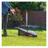 (LT12) 1500W Lawn Rake & Scarifier Remove thatch, moss, leaves and other debris from your lawn...