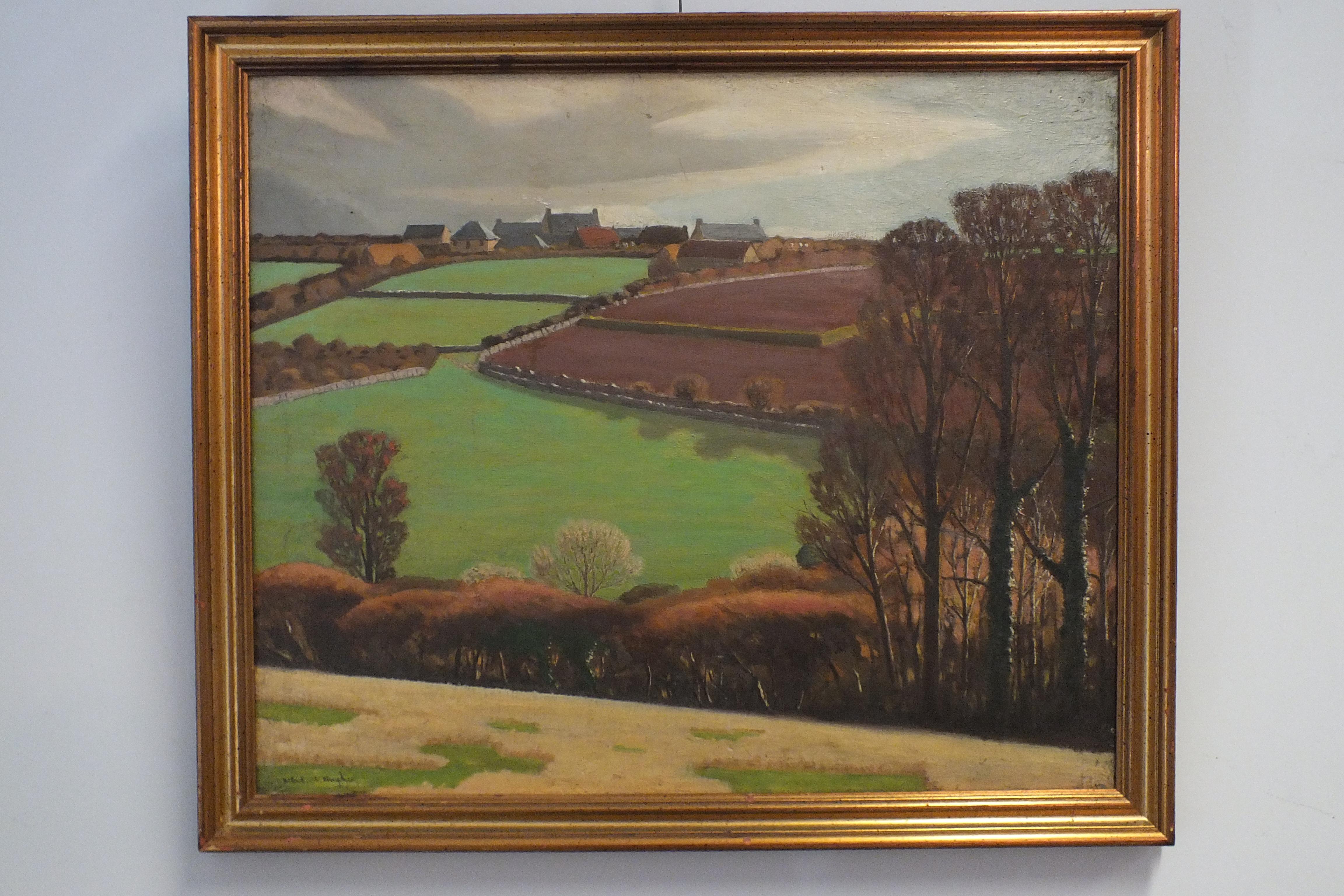 •Robert Morson Hughes (1873-1953) CORNISH LANDSCAPE Oil on canvas, signed, 50 x 60cm.