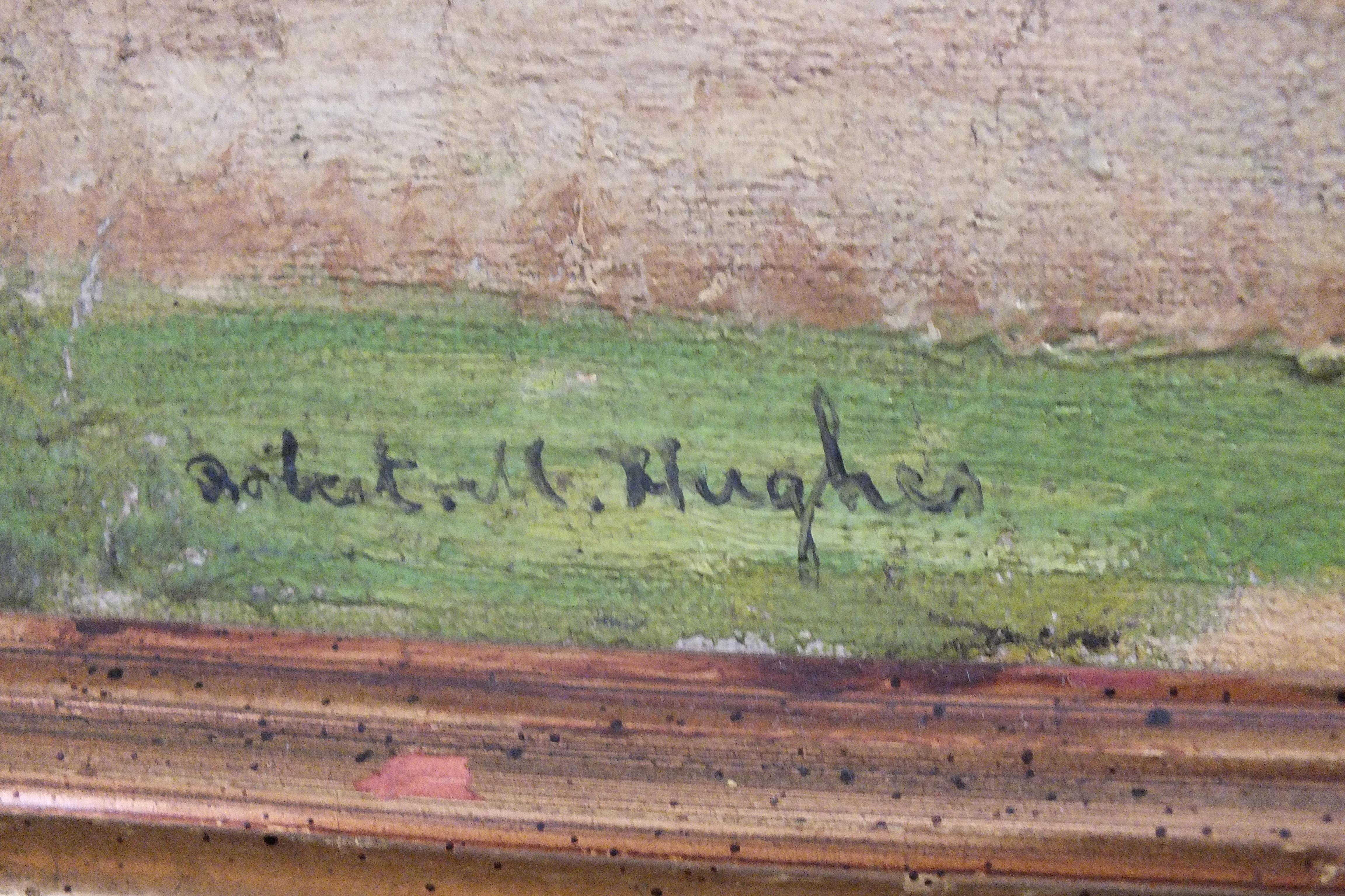 •Robert Morson Hughes (1873-1953) CORNISH LANDSCAPE Oil on canvas, signed, 50 x 60cm. - Image 2 of 6