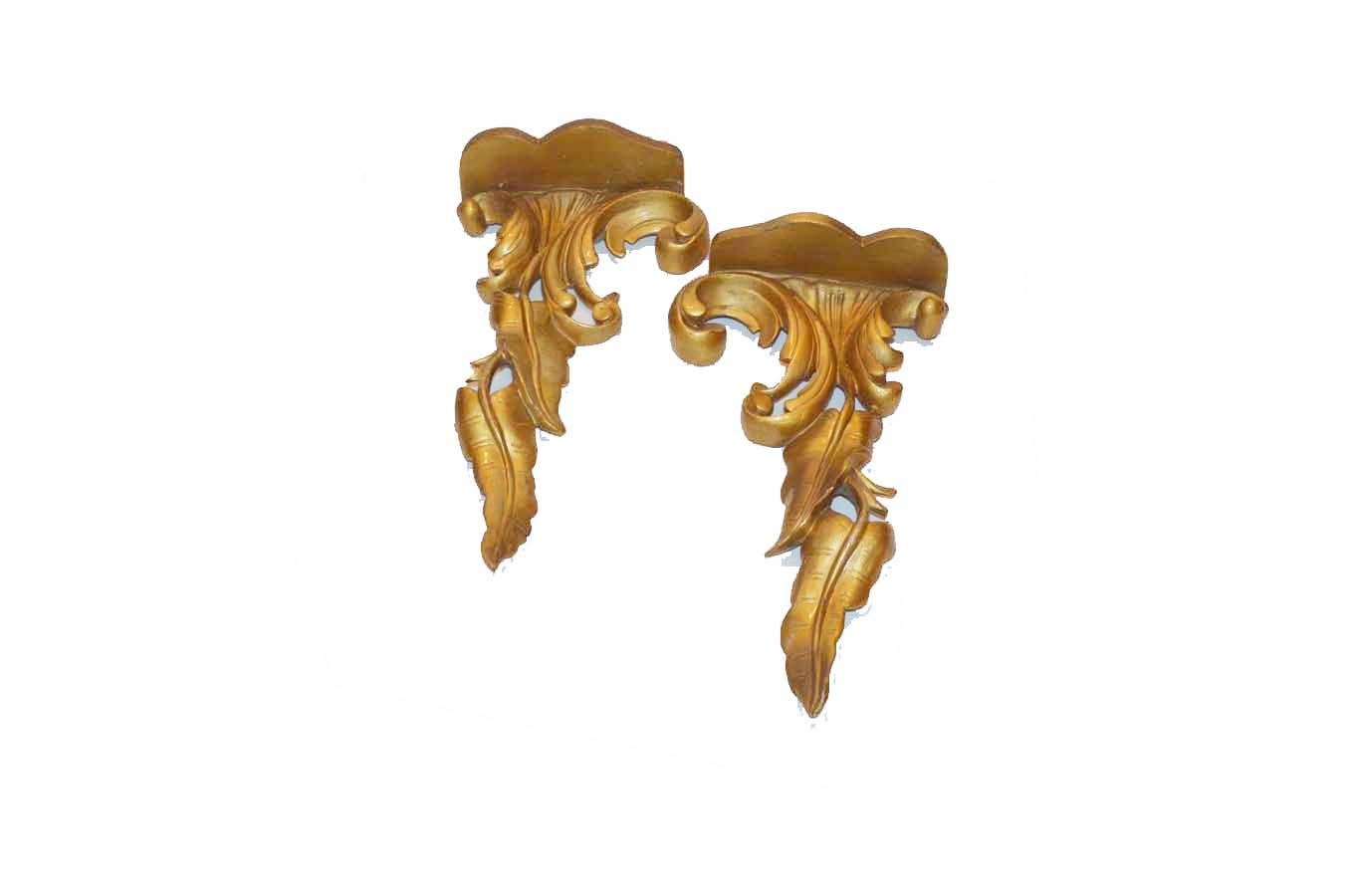 Lot 155 - A Nice Pair of Gilted Wall Brackets