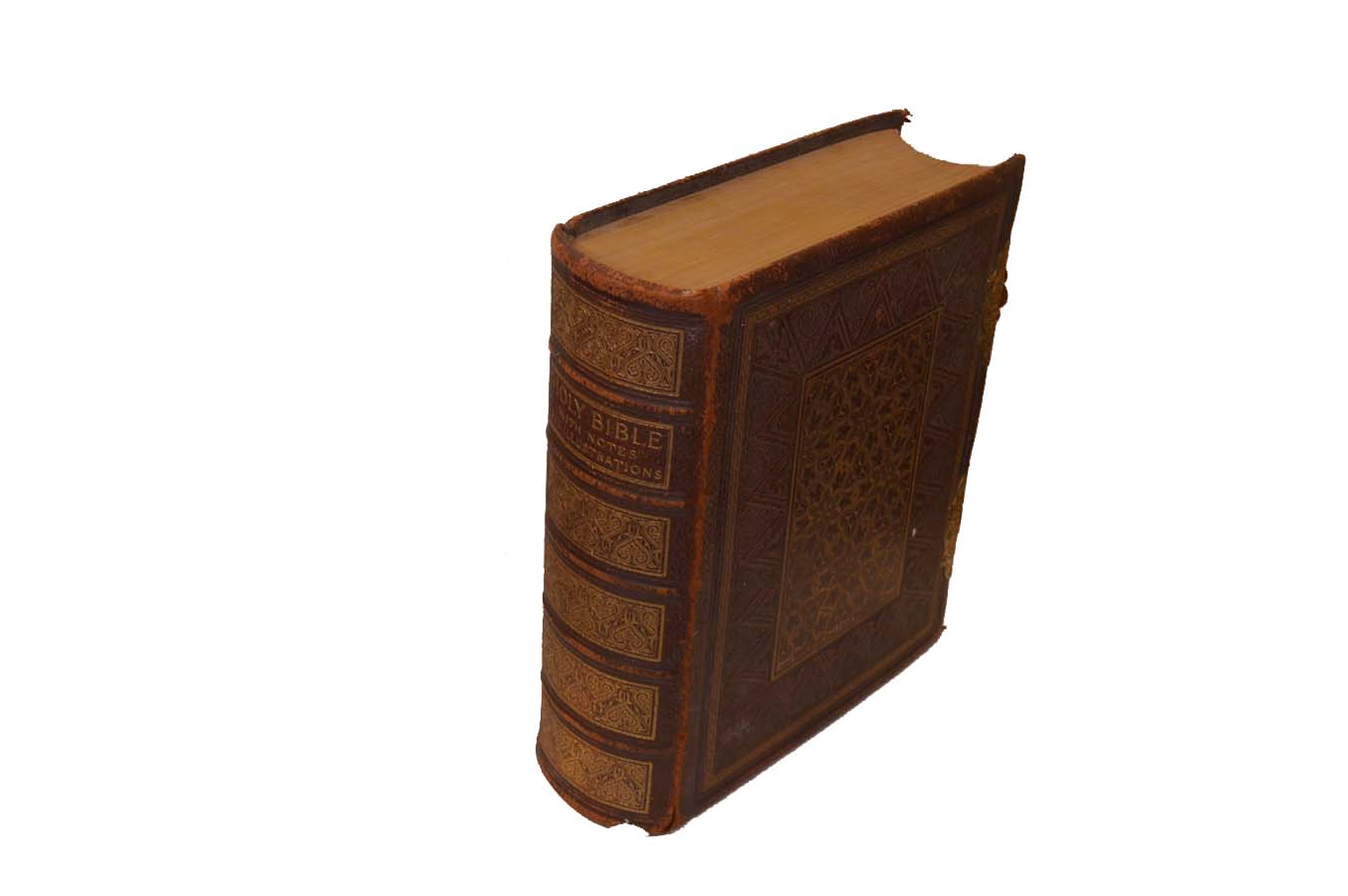 Lot 52 - A Victorian Brass Bound Family Bible