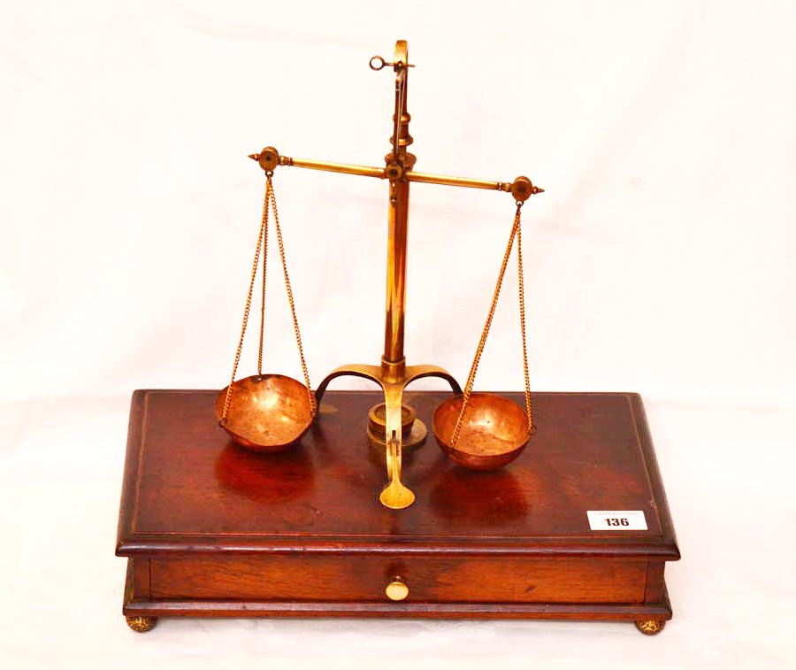 Lot 136 - An Old Set of Measuring Scales