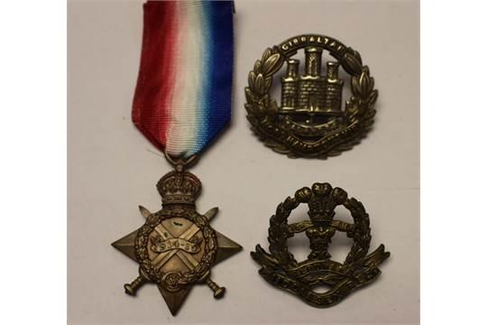WW1 British 1914-15 Star to 113489 Clp J Paterson R E  along