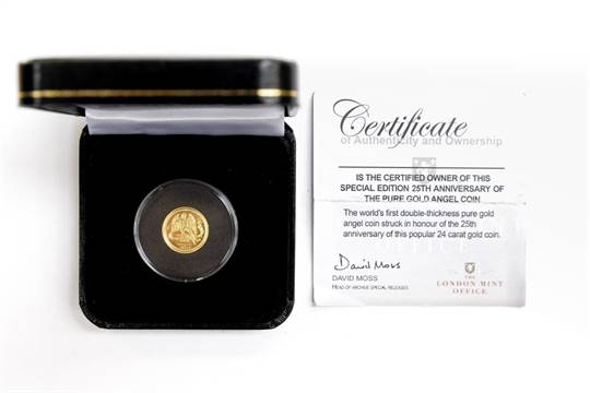 Isle of Man Gold one tenth Angel, double thickness, 6 22 grams